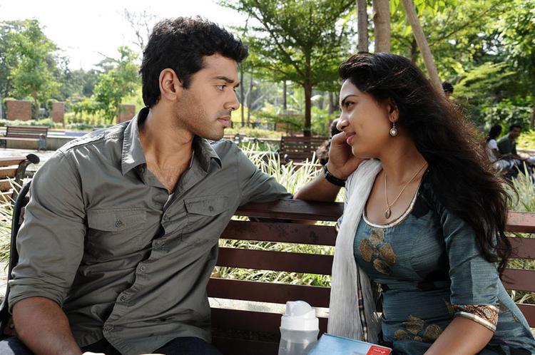 Ashwin And Srushti Love Talk Photo Still From Tamil Movie Megha