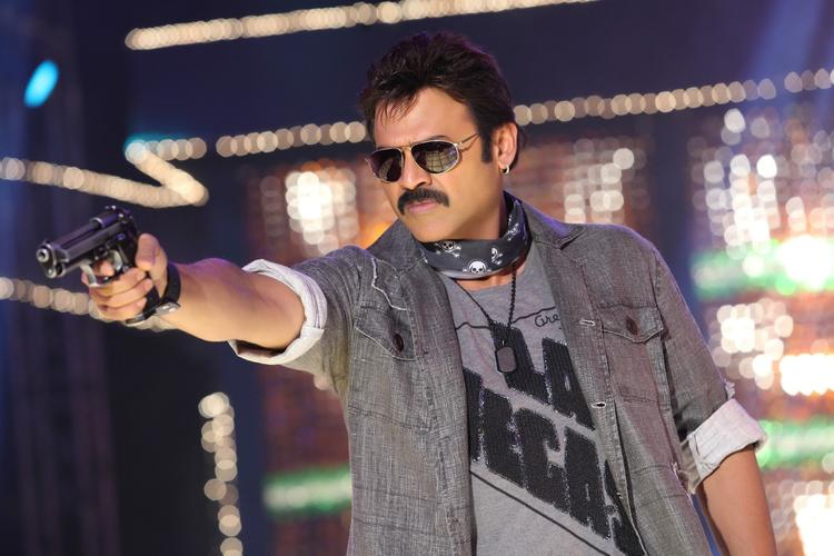 Venkatesh Angry Look Posed With Gun Still From Shadow Movie