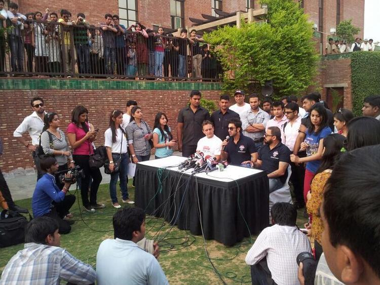 Ranbir Kapoor Addresses The Media During The Promotional Event Of Charity Football Match