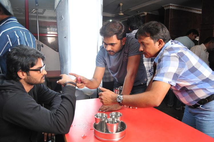 Sudheer Babu Discussion Still On The Sets Of Prema Katha Chitram Movie