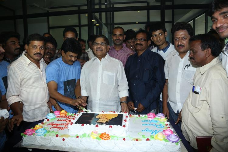 Allu Aravind Photo Clicked With Fans At Chiranjeevi Blood Bank During Celebration Of Ram Charan Birthday