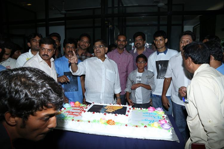 Allu Aravind Photo Clicked At Ram Charan Birthday Celebration