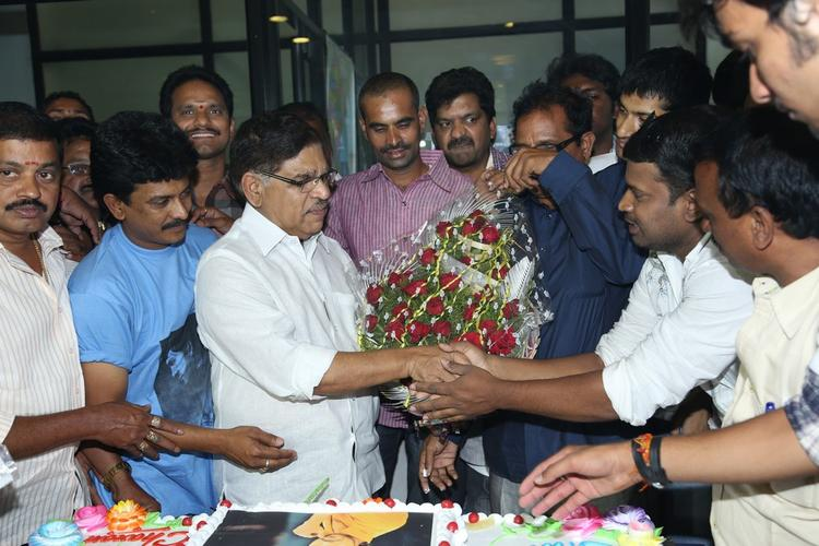 Fans Greet Allu Aravind At Chiranjeevi Blood Bank