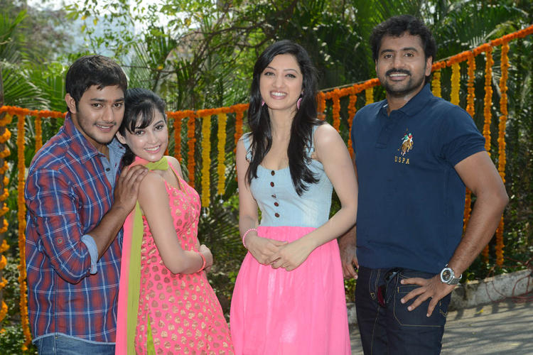 Prince,Disha,Richa And Sethu Cosy Pose At Full House Entertainments Movie Launch