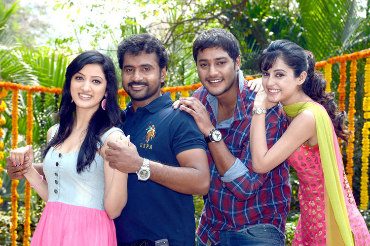Richa,Sethu,Disha And Prince Photo Clicked At Full House Entertainments Movie Launch