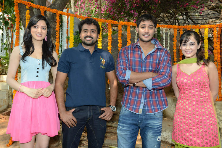 Richa,Sethu,Prince And Disha Pose For Camera At Full House Entertainments Movie Launch