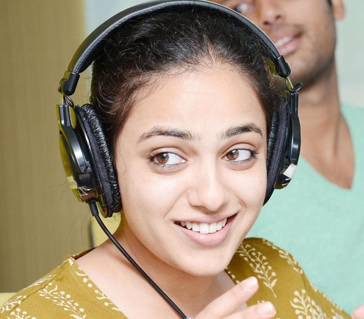Nitya Menon Cute Expression Photo Still At Radio Mirchi