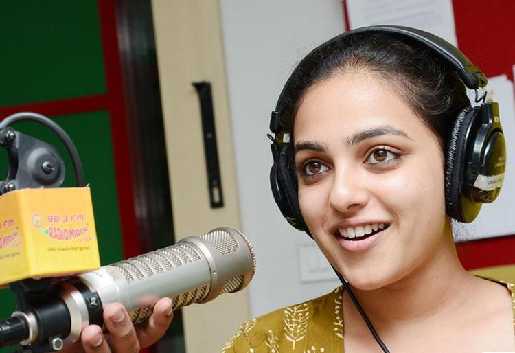 Nitya Menon Cute Look Photo Still At Radio Mirchi