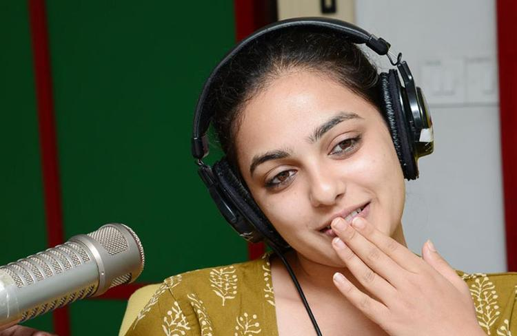 Nitya Menon Nice Look Photo Still At Radio Mirchi