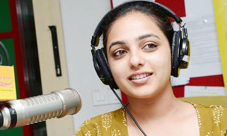 Nitya Menon Sizzling And Attractive Photo Still At Radio Mirchi