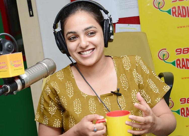 Nitya Menon Smiling Face Look Photo Still At Radio Mirchi