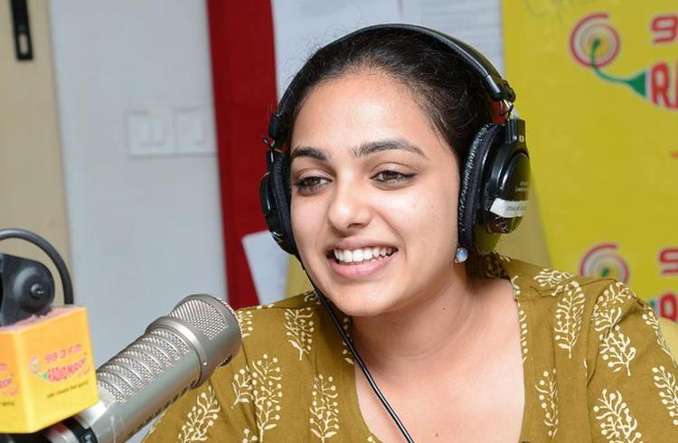Nitya Menon Trendy Looking Photo Still At Radio Mirchi