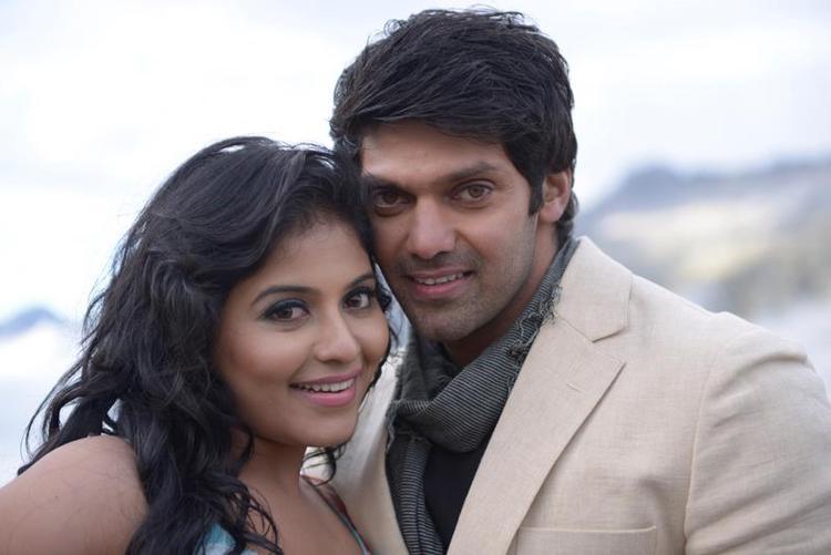 Arya And Anjali Cosy Photo Still From Movie Settai