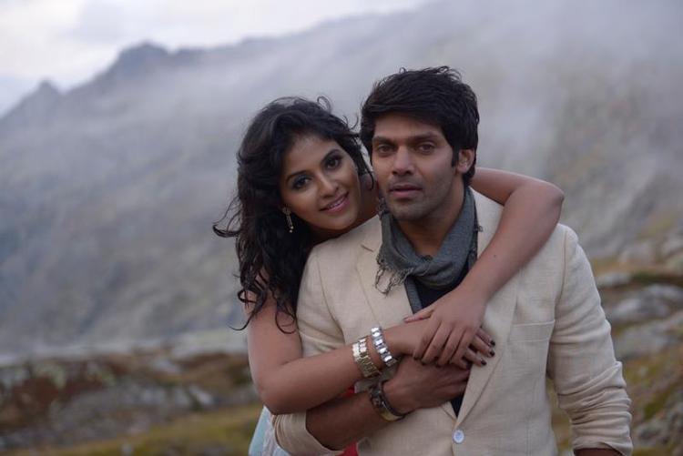 Arya And Anjali Hug Photo Still From Movie Settai