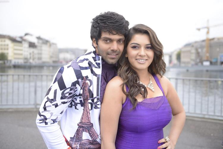 Arya And Hansika Gorgeous Look Photo Still From Movie Settai