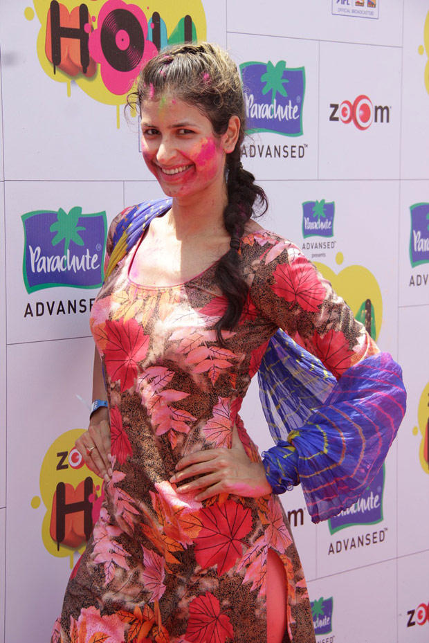 A Celeb Strikes A Pose For Camera At ZOOM Holi Party
