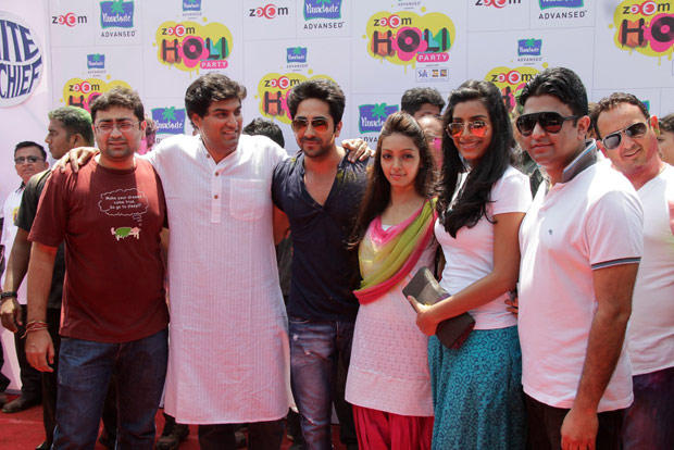 Kunaal,Ayushmann,Pooja And Bhushan Snapped At ZOOM Holi Party