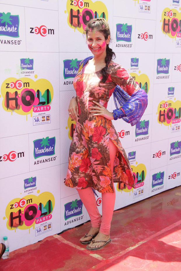 A Television Star Pose For Camera At ZOOM Holi Party