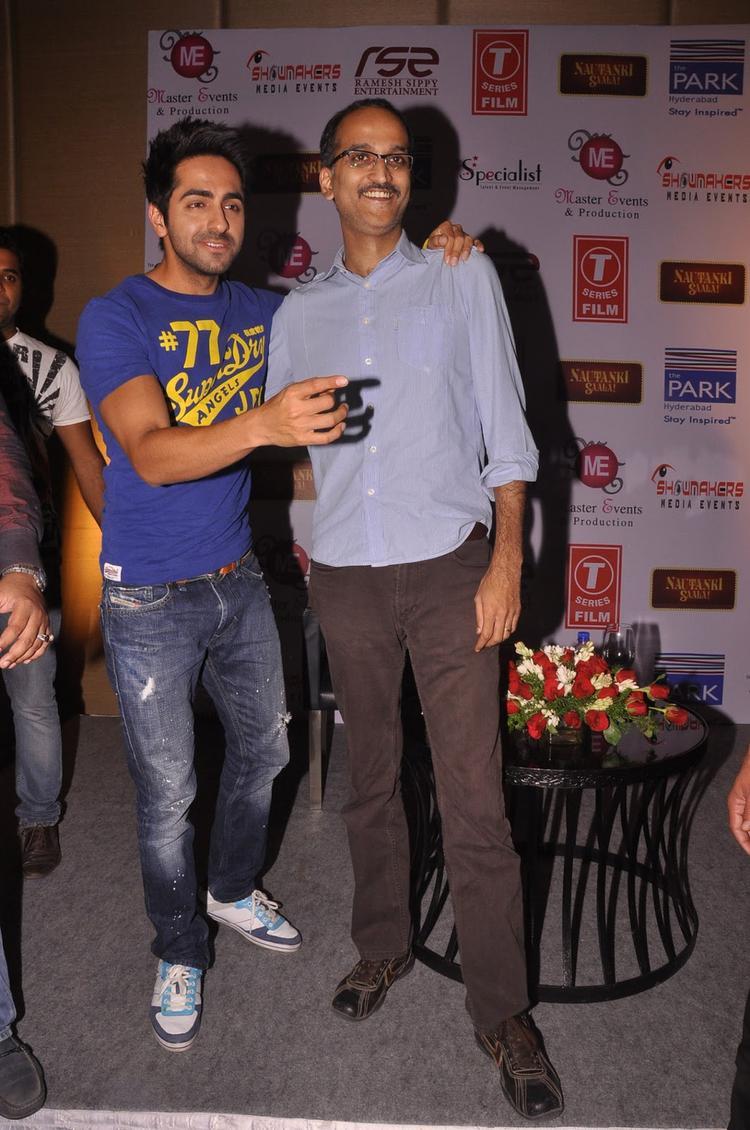 Ayushmann And Rohan Arrived At Nautanki Saala Movie Promotion