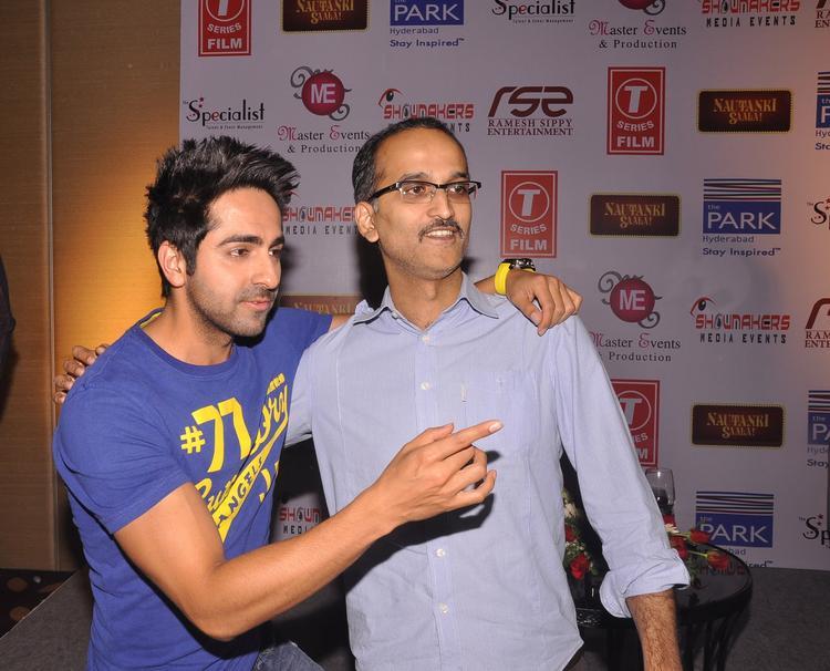 Ayushmann And Rohan Make An Appearance At Nautanki Saala Movie Promotion