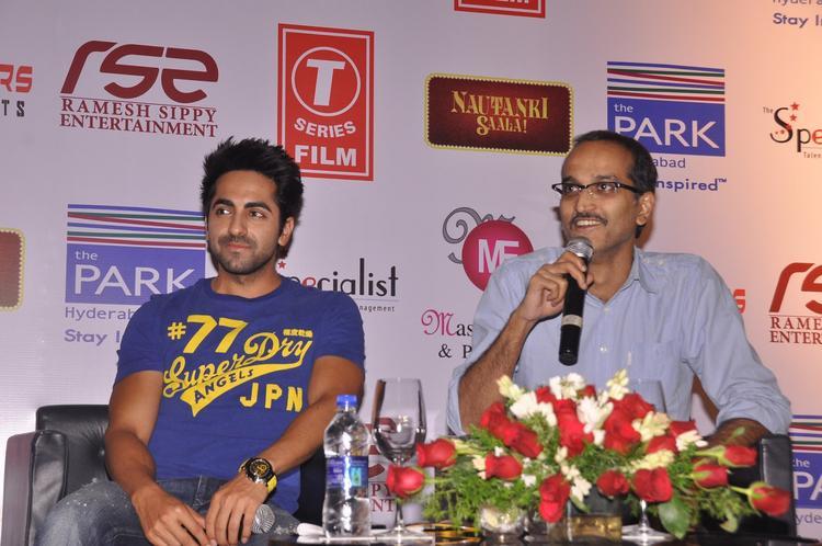 Ayushmann And Rohan Speak Out Photo Clicked At Nautanki Saala Movie Promotion