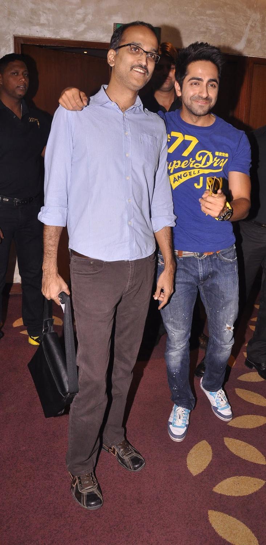 Ayushmann And Rohan Spotted At Nautanki Saala Movie Promotion
