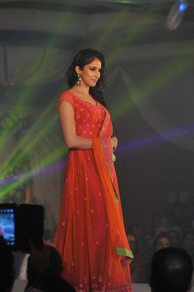 A Hot Model Walks On Ramp At Neeta Lulla Shehnai Collection Fashion Show Event 2013