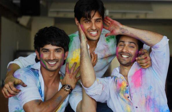 Sushant,Sidharth And Varun Enjoyable Cool Smiling Look Pose Still