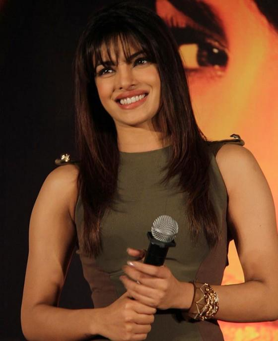 Priyanka Cute Smiling Photo Clicked At Launch Of New Song From Her Album