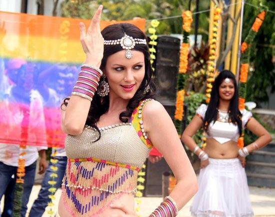 Yana Gupta Item Song Shoot Still On The Sets Of Dussehra Movie