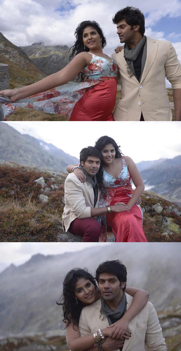 Arya And Anjali Different Hug Pose Photo Still From Movie Naughty Boys