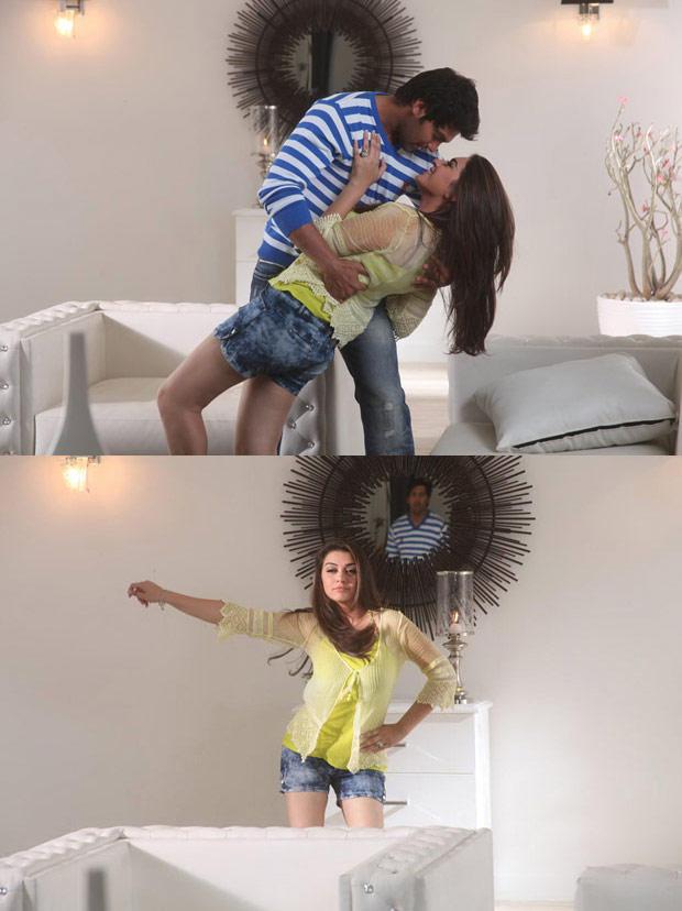 Arya And Hansika Romance Scene Photo Still From Movie Naughty Boys