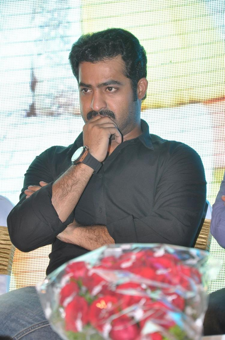 Jr. NTR Deep In Thought At Baadshah Hexa Platinum Disc Function