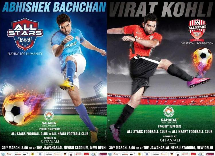 Abhishek And Virat Kick The Football Still For ASFC Charity Match Poster