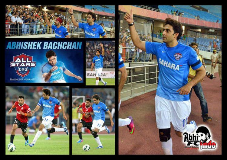 Abhishek Greets His Fans At All Stars Football Club Charity Match