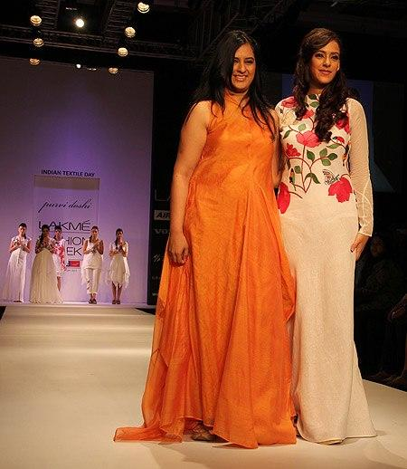 Hazel Walks With Designer Purvi At Lakme Fashion Week Summer Resort 2013