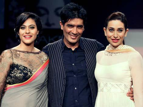 Kajol,Manish And Karisma On Ramp At Lakme Fashion Week Summer Resort 2013
