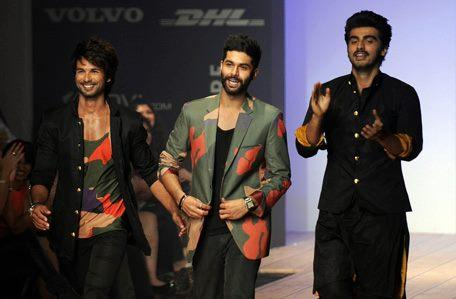 Shahid,Kunal And Arjun Cool On Ramp At Lakme Fashion Week Summer Resort 2013
