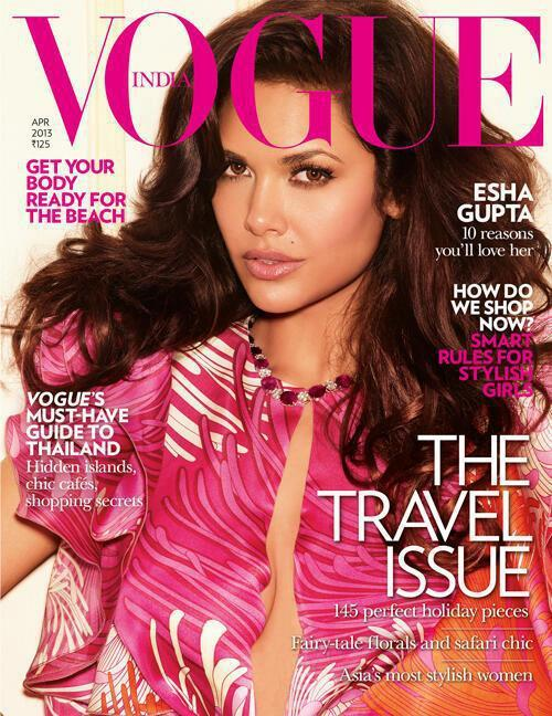 Esha Sexy Look Pose Photo On The Cover Of Vogue India Magazine
