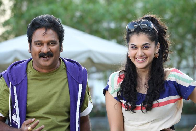 Taapsee And KrishnaCute Smiling  Photo Still From Movie Shadow