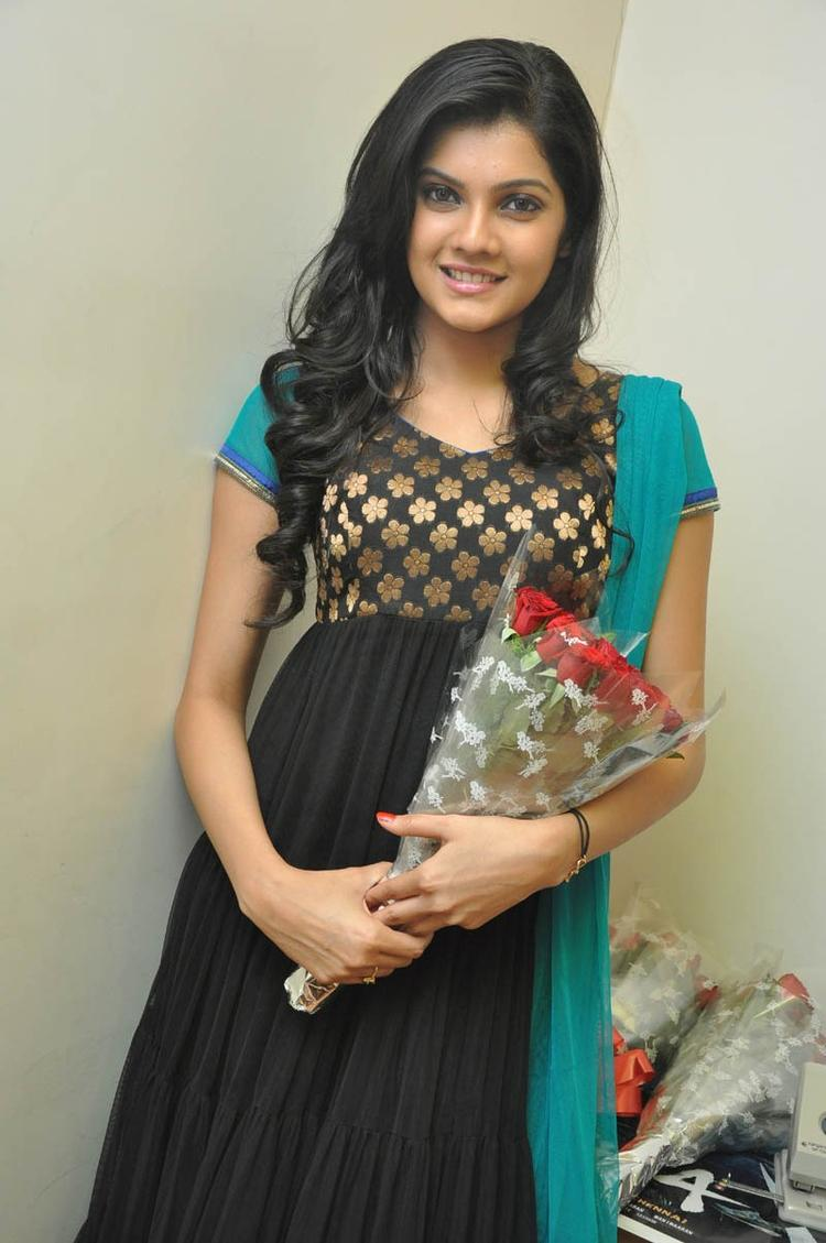 Ashritha Attractive Photo Still At NH4 Movie Audio Release Function