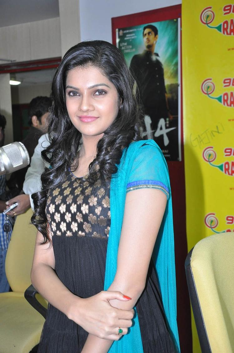 Ashritha Charming Look Photo Still At NH4 Movie Audio Release Function