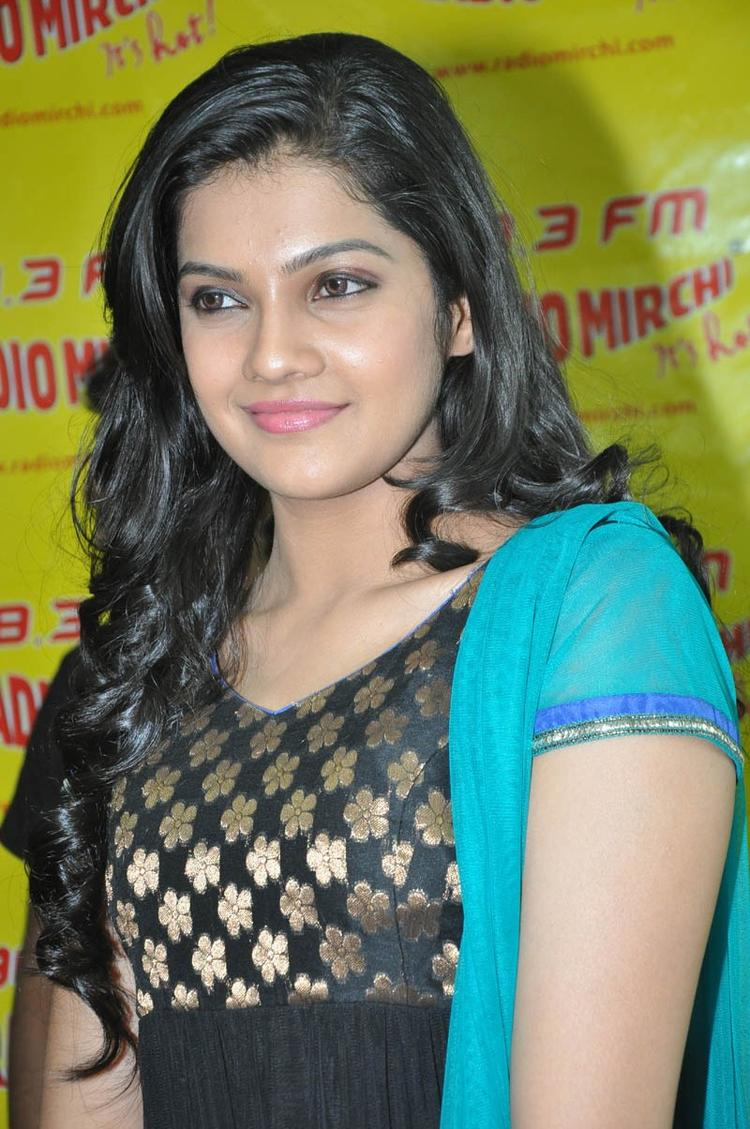 Ashritha Completed Her Look With Flowing Hair At NH4 Movie Audio Release Function