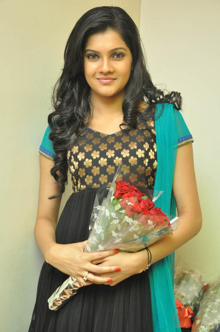 Ashritha Cute Look Pose Photo Still At NH4 Movie Audio Release Function