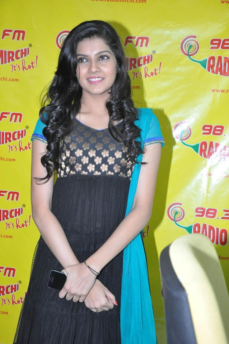 Ashritha Looked GorgeousIn Chudiar At NH4 Movie Audio Release Function