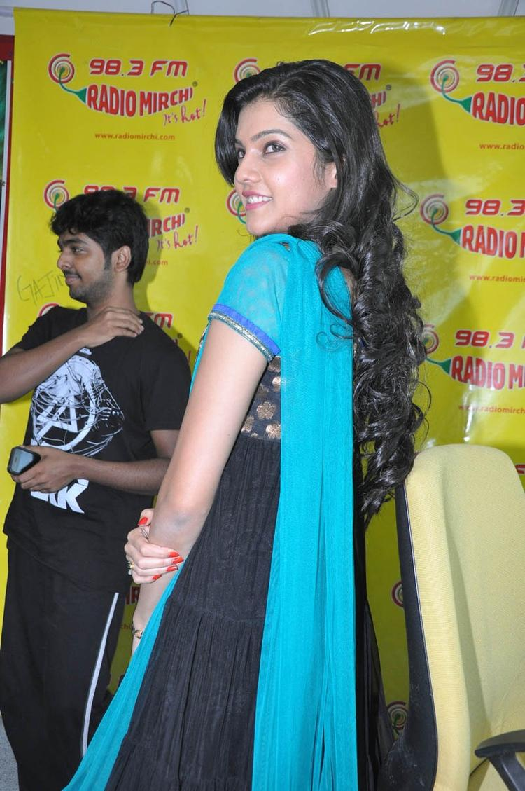 Ashritha Looked Ravishing In A Black Ensemble At NH4 Movie Audio Release Function
