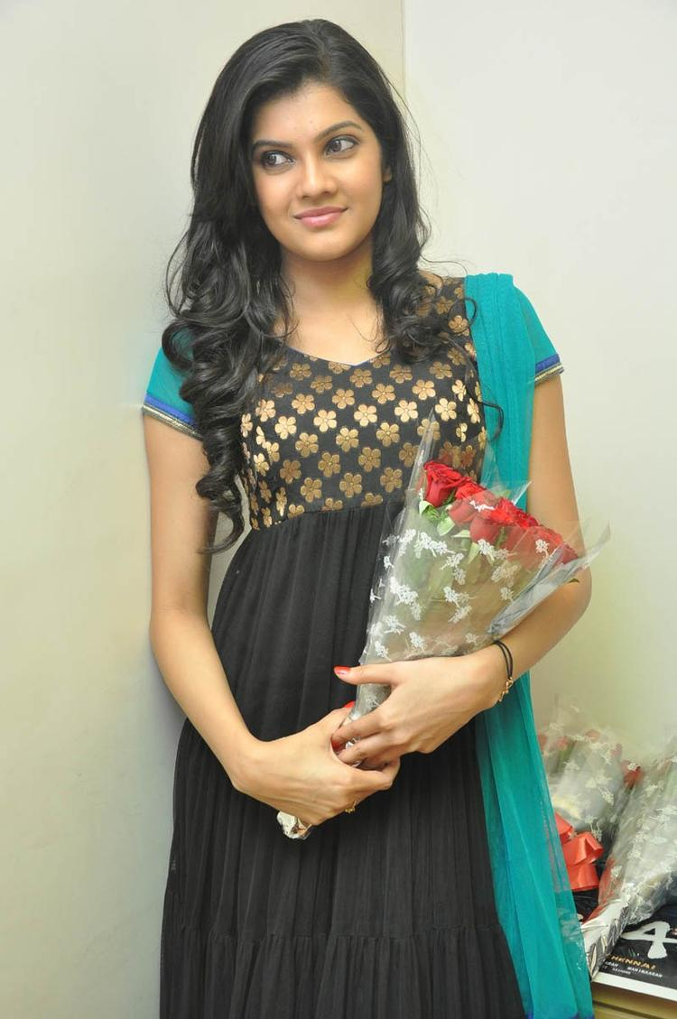Ashritha Nice Look Photo Still At NH4 Movie Audio Release Function