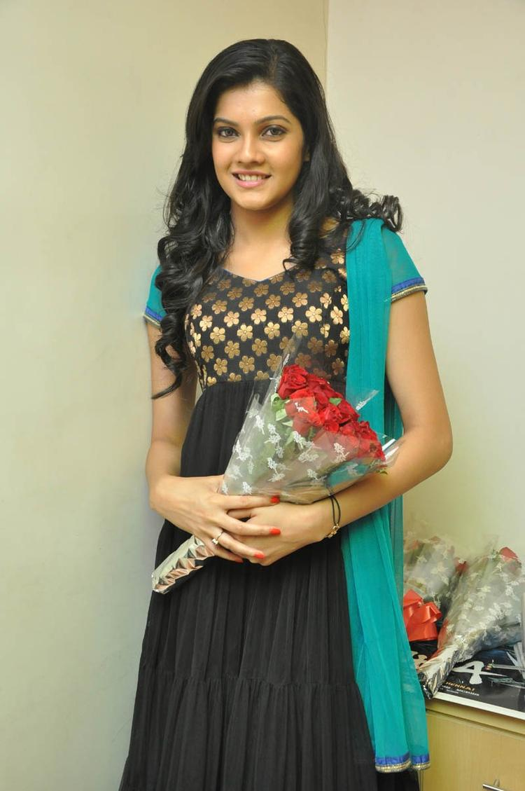 Ashritha Stunning Look Photo Still At NH4 Movie Audio Release Function