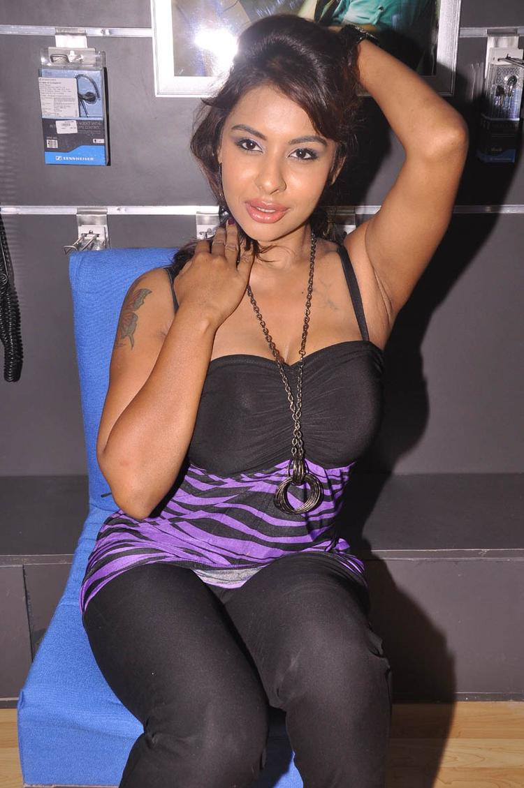 Srilekha Sizzling Look Pose For Camera At Supreme Music Store Launch
