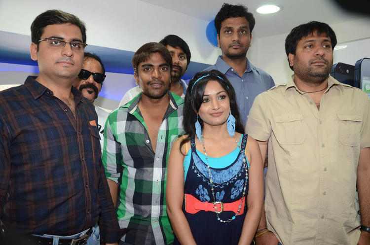Srinivas,Madhavi And Sekhar Posed For Camera At Supreme Music Store Launch